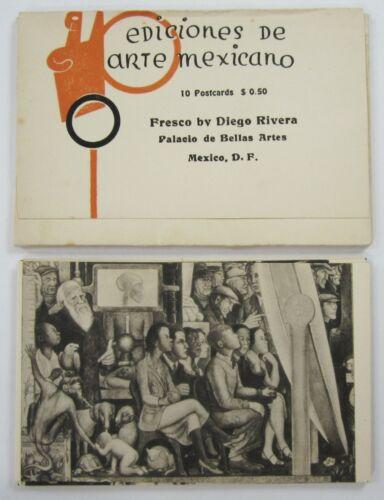 Vintage Diego Rivera Mural Frescoes Mexican Folk Art Postcard Set Complete 1930s