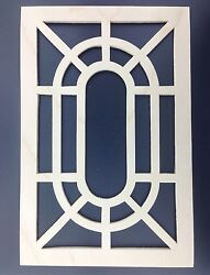 Grandfather Clock Side Panel Grate or Wood Fret 6 1/8w X 9 5/16h Pair