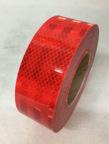 """3M Reflective Truck Trailer Vehicle Conspicuity Safety Warning Tape Solid Red 2"""""""