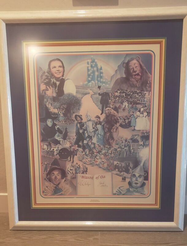 WIZARD OF OZ limited edition signed by The Scarecrow & The Tin Man, Framed - COA