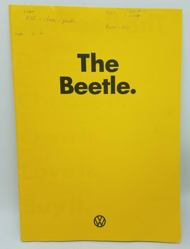 Vintage 1973 VW Volkswagon Beetle Sales Brochure