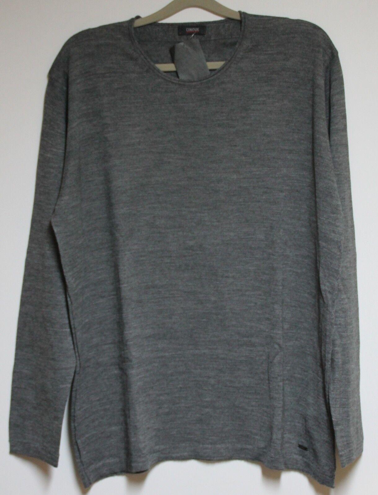 CINQUE Strick Pullover Ciroiate Herren in Grau  Größe 2XL  Neu mit Etikett