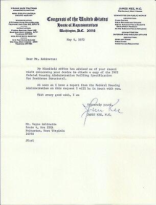 James Kee - U.S. Representative Original Signed 1972 Letter with Envelope