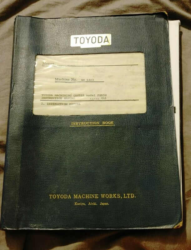 Toyoda Machining Center Model FNH50 - Instruction Manual + 2 NC Connector V2 man