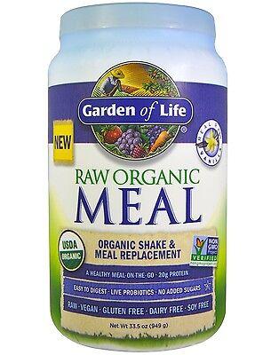 NEW Garden of Life RAW Meal Vanilla 33.5 oz, Free Shipping