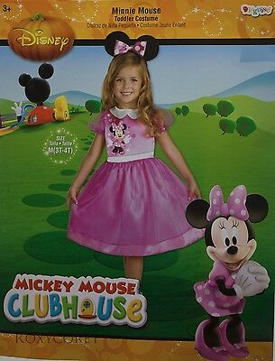 Halloween Disney Minnie Mouse Dress & Headpiece Costume Size 3T-4T NWT (4t Girls Halloween Costumes)