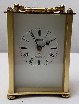 Vintage Craftguild Brass West Germany Quartz Table Mantel Desk Clock NON WORKING