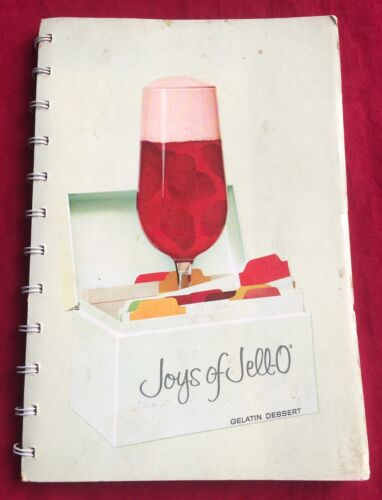 Vintage 1963 Joys Of Jell-O Gelatin Dessert Recipes Cookbook 1st Printing Spiral