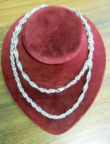 Signed Milor HandMade Sterling Silver Twisted 36 inch Woman