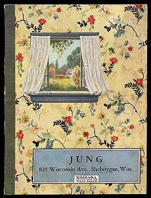 Vintage 1930's 40's Jung Sheboygan Wallpaper Sample Book by Niagara Blue Ribbon