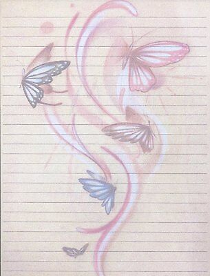Butterfly Design Lined Stationery Set with 25 sheets and 10 envelopes