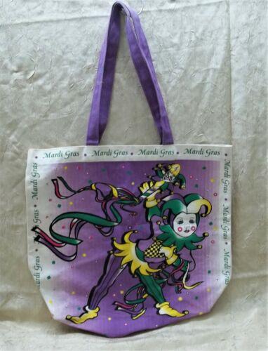 Mardi Gras Canvas  Burlap Tote Bag Holiday