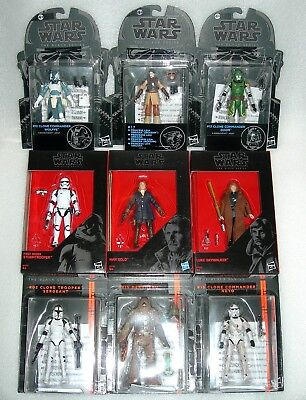 "Star Wars 3.75"" Black Series Figures, Clone Commanders - Asst - NIP"