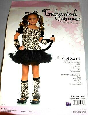Child Toddler and Kids Little Leopard Girls Costume - Cat Costumes Small 4-6 - Leopard Costume Kids