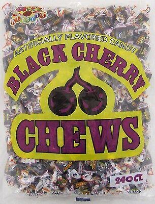 Albert's Black Cherry Chews 240 Count Candy Bulk Taffy Candies Cherries Alberts