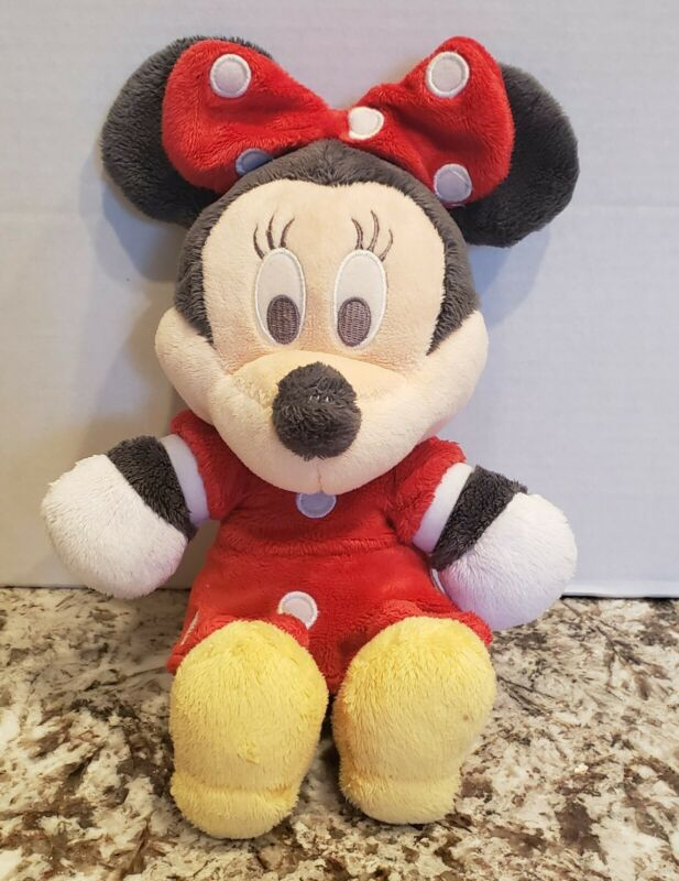 "12"" Disney Baby Minnie Mouse Stuffed Animal Plush Toy Mini."