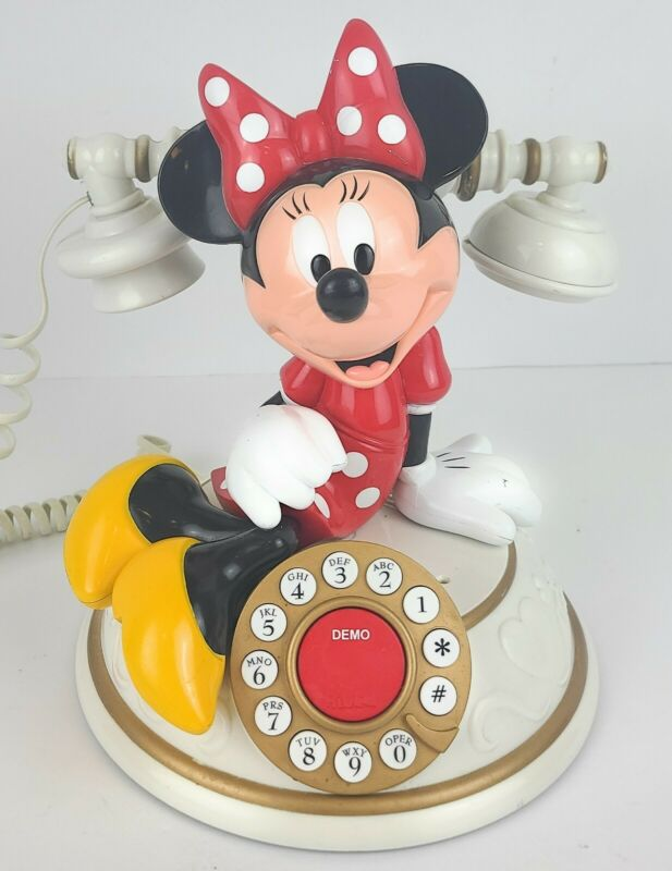 VTG Disney Desk Telephone Telemania Minnie Mouse Rare Collectable Untested