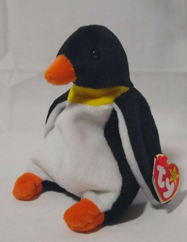 Retired TY Waddle the Penguin Beanie Baby