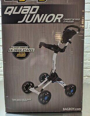 BB72046 Quad Junior Pull Cart, White & Cobalt (Junior Golf Pull Cart)