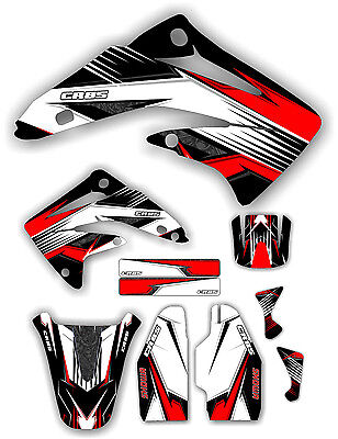 Graphic Kit Number (Cr85 Racing Graphic Kit 03-12 Red Graphics Decal Sticker MX CR 85 Number Plates )