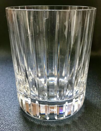 Baccarat Harmonie Triple Old Fashion Glass, Signed, Pre-Owned