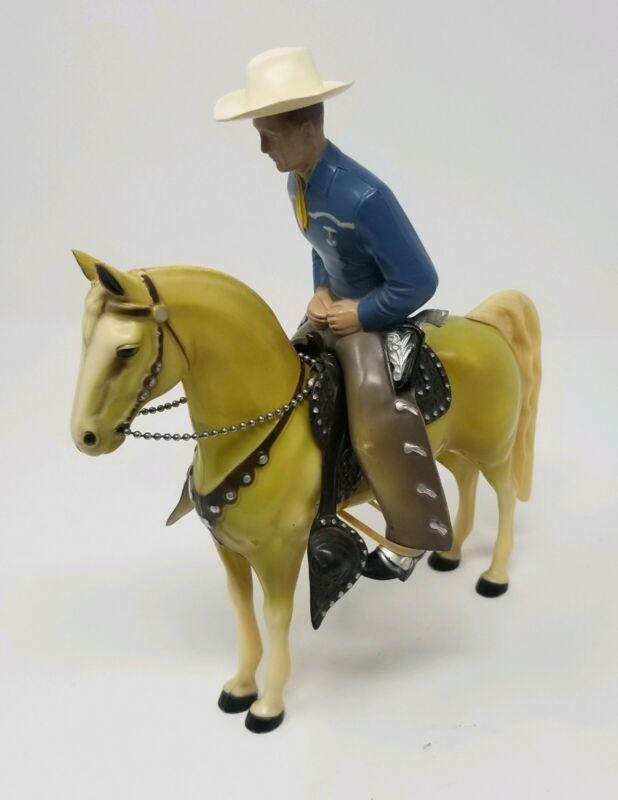 Hartland BLUE SHIRT COWBOY Horse & Rider