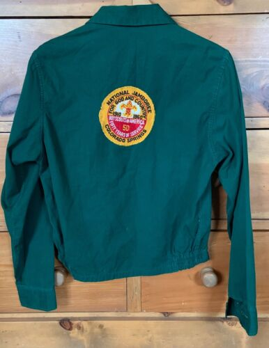 Vintage 1960 NATIONAL JAMBOREE Official Boy Scout JACKET Green Hipster Trendy