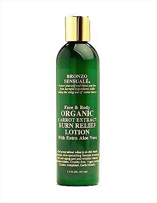 Bronzo Sensuale Organic Aloe & Carrot Burn-Relief Lotion 8.5 oz. FREE Shipping