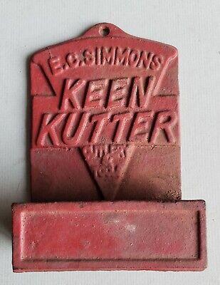 Antique Keen Kutter, wall Match holder, Cast Iron Advertising piece, Knife etc