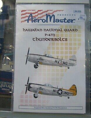 Aeromaster 48-533 Hawaiian National Guard P-47D Thunderbolts Decal Sheet