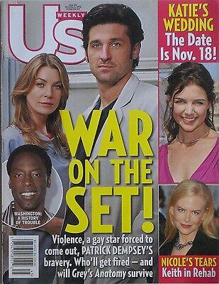 Patrick Dempsey Ellen Pompeo Isiah Washington Greys Anatomy 2006 Us Magazine