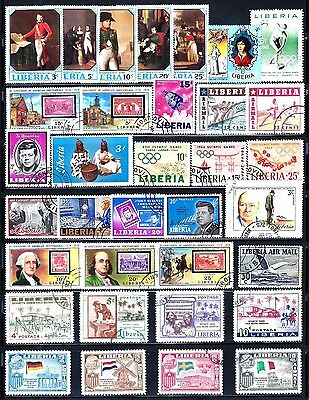 LIBERIA Stamps Lot of 34