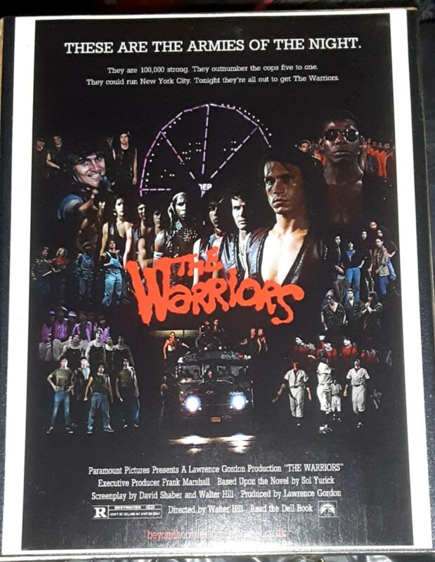 """The Warriors Movie Wall Mounting Plaque (New York City) 8.5""""×11"""""""