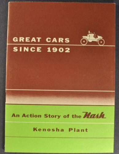 1954 Nash Kenosha Plant Brochure Ambassador Statesman Rambler Excellent Original