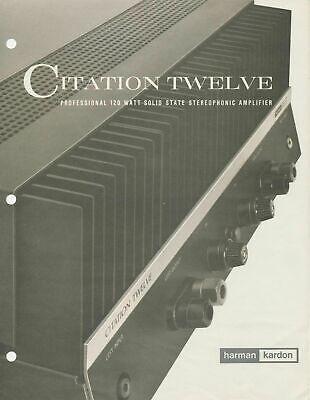 Harman Kardon Citation 12- Endverstärker  in Doppel Mono-Aufbau -Made in USA-