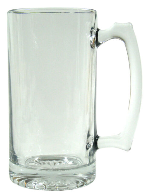 barware clear glass beer mug 265oz stein big n heavy clear glass - Glass Beer Mugs