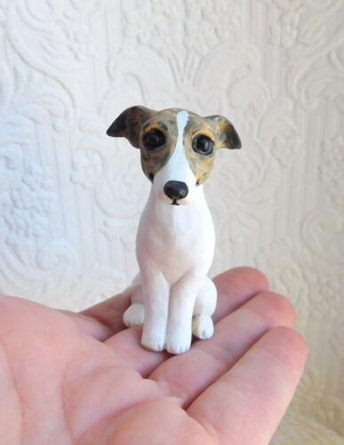 Italian Greyhound Resin Sculpted mini Furever Clay Collectible dog sculpture