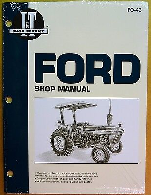 New Ford Shop Manual For Tractor Models 281029103910 Fo-43