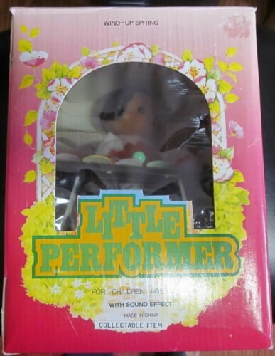 RARE! LITTLE PERFORMER Xylophone Tin Wind-Up Toy Figure  MS-085.
