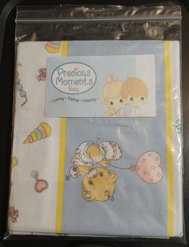 """NEW-OTHER 30"""" Flannel Receiving Blanket Precious Moments"""