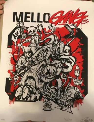 "Marshmello signed and numbered Mellogang 18"" x 24"" poster"