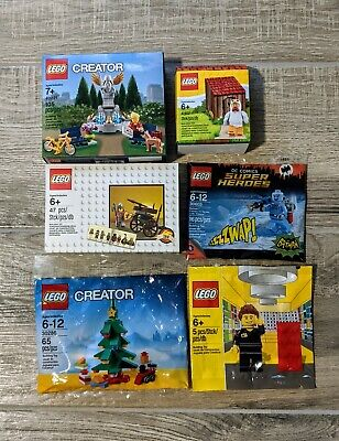 Lego Promo Lot Of 3 Sets and 3 minifigs New Sealed Boxes/bags