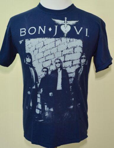 Bon Jovi tour t-shirt 2011 medium blue classic rock