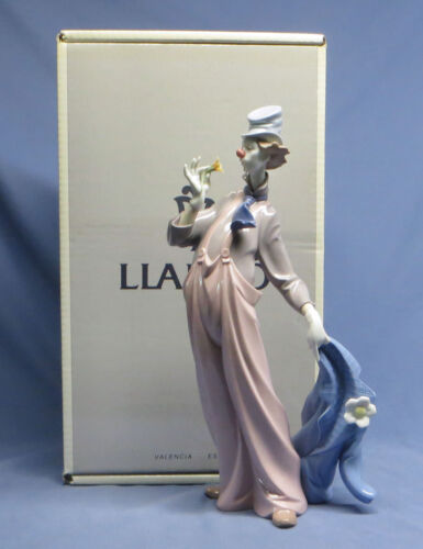 Vintage Lladro 6507 A Mile of Style Clown Figurine Mint in Box