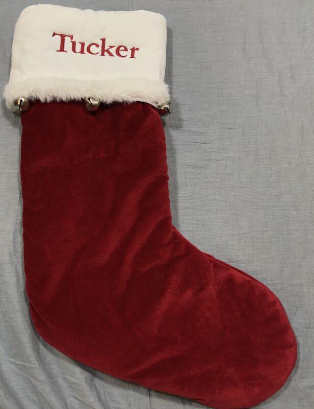 Pottery Barn Kids Jingle Bells Luxe Velvet Stocking