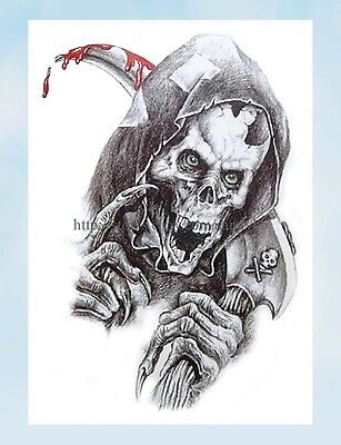 US Seller- fake face sugar skull Halloween large 8.25