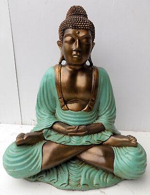 Buddha resin coloured 38x21x50h turquoise shiva Buddha Ganesh divinity 2