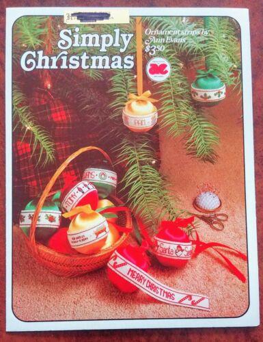 SIMPLY CHRISTMAS ORNAMENT STRIPS Patterns CROSS STITCH 8 Designs Ann Evans - $4.99