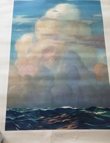 "Vintage Charles A. Lindbergh Poster - ""WE"""