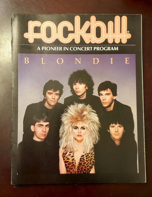 "Blondie Debbie Harry Rockbil  Promo Concert Program ""Hunter"" Tour 1982 Lot of 20"